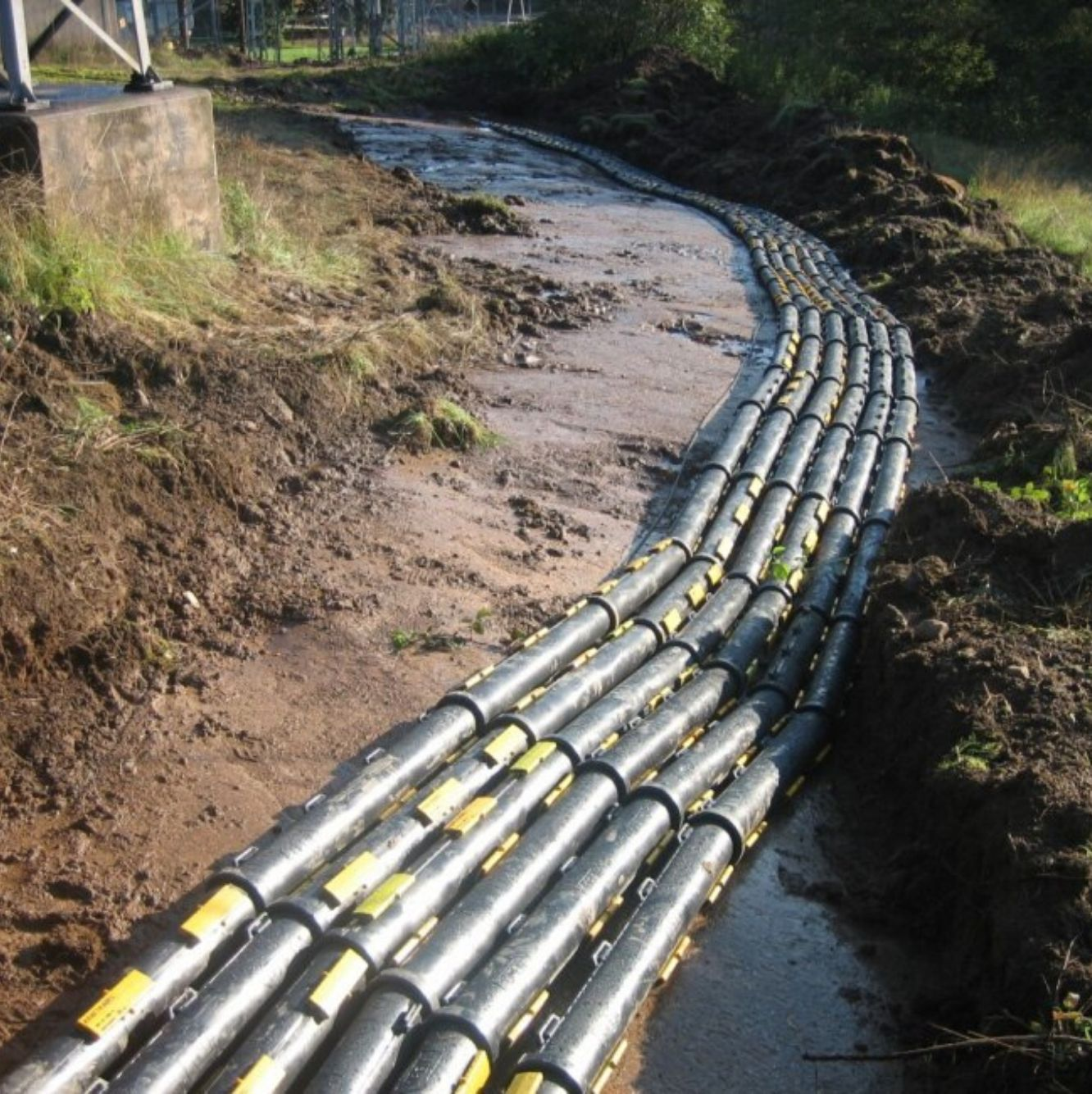 Exemple d'installation de gaine de cables